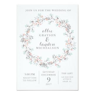 Invitación floral del boda de la acuarela de la