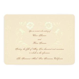 Invitación floral del boda de la obra maestra