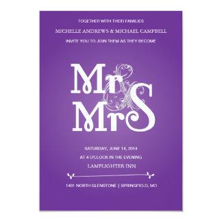 """Invitación floral del boda del signo """"&"""" en gris y"""