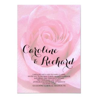 Invitación floral del boda - foto color de rosa