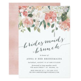 Invitación floral del brunch de la dama de honor