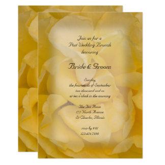 Invitación floral del brunch del boda del poste
