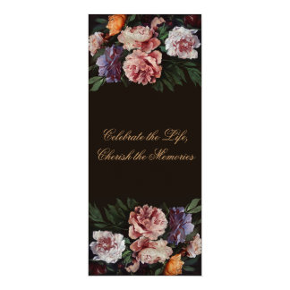 Invitación floral del entierro de la pintura 3 de