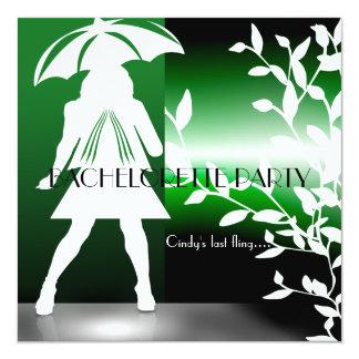 Invitación floral del fiesta de Bachelorette