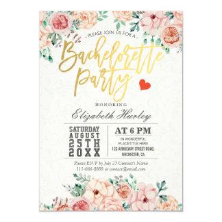 Invitación floral del fiesta de Bachelorette de la