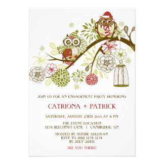 Invitación floral del fiesta de compromiso de los