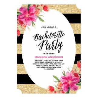 Invitación floral del fiesta del encanto el  