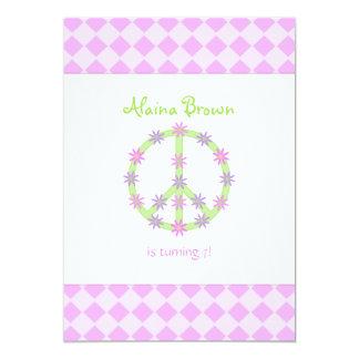 Invitación floral del fiesta del signo de la paz