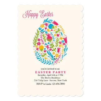 Invitación floral del huevo de Pascua Invitación 12,7 X 17,8 Cm