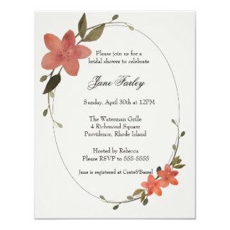 Invitación floral del marco
