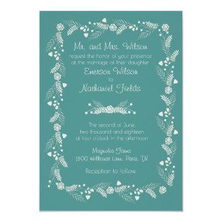 Invitación floral delicada del boda