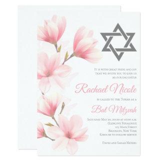 Invitación floral elegante de Mitzvah del palo