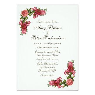 Invitación floral elegante simple del boda