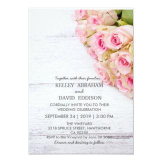 Invitación floral hermosa del boda