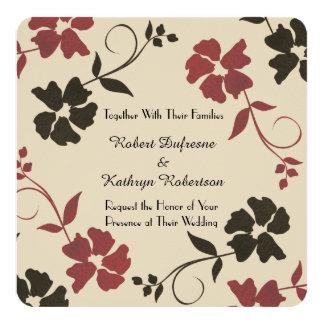 Invitación floral hermosa y terrosa del boda