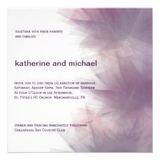 Invitación floral minimalista moderna del boda
