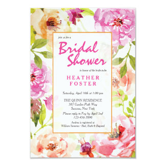 Invitación floral moderna