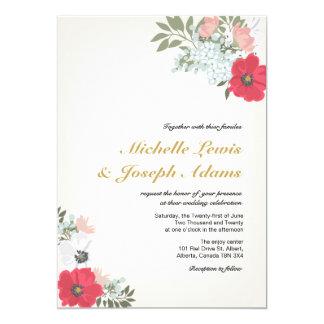 Invitación floral moderna del boda