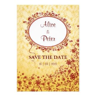 Invitación floral perfecta de la tarjeta del día