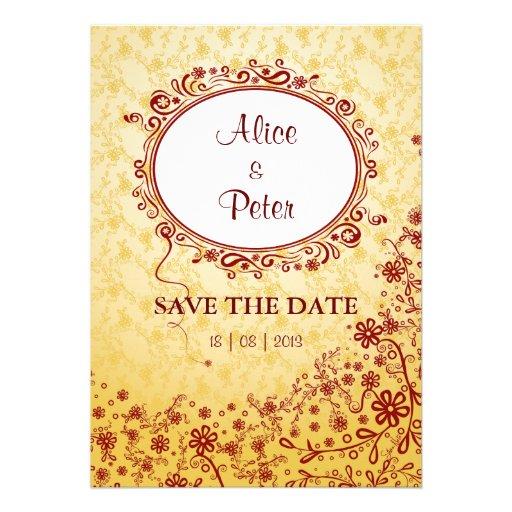 Invitación (floral) perfecta de la tarjeta del día