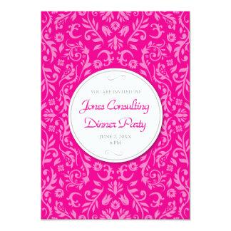 Invitación floral rosada