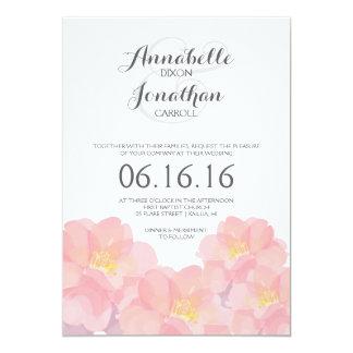 Invitación floral rosada hawaiana del boda