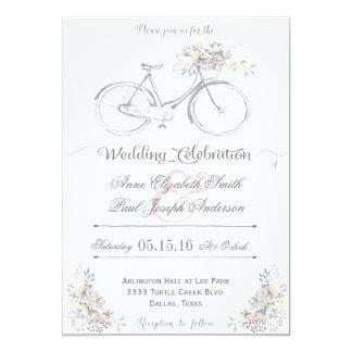 Invitación floral rústica III del boda