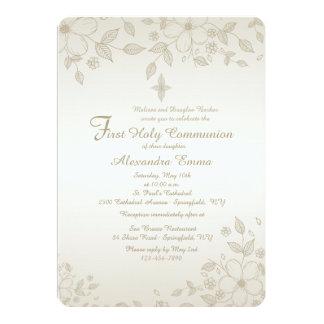 Invitación floral sombreada