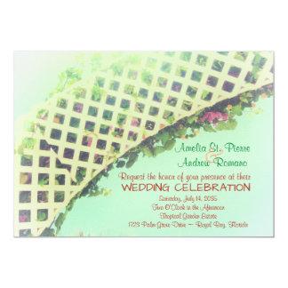 Tarjeta Invitación floral tropical elegante del boda del