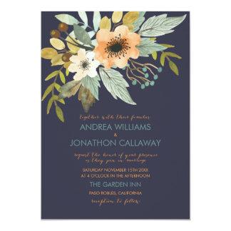 Invitación floreciente de encargo del boda de la