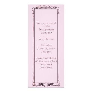 Invitación florida del fiesta de compromiso de