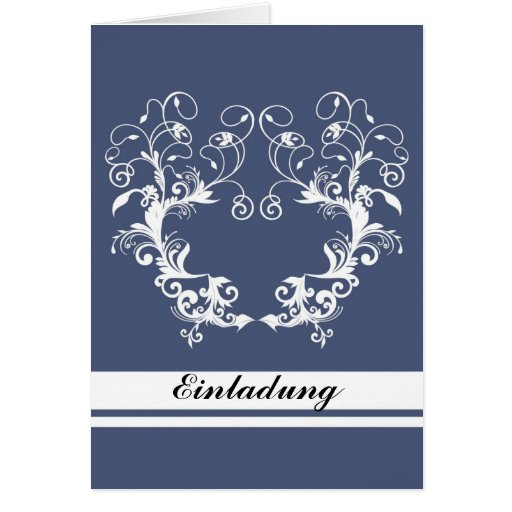 Invitación - flower frame blue tarjeta