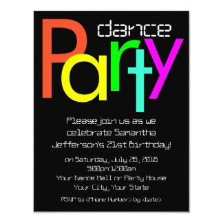 Invitación fluorescente del baile de las luces de invitación 10,8 x 13,9 cm