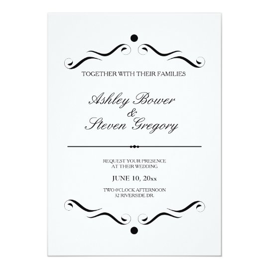 invitación formal blanca del boda zazzle es