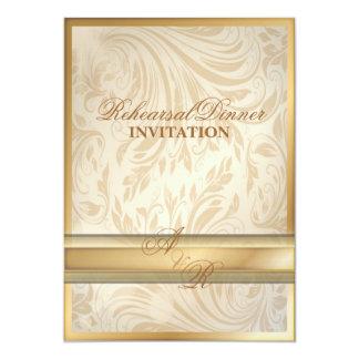 Invitación formal de la cena del ensayo del