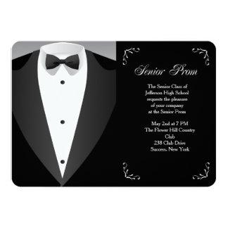 Invitación formal del baile de fin de curso de la
