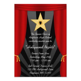 Invitación formal del baile de fin de curso rojo