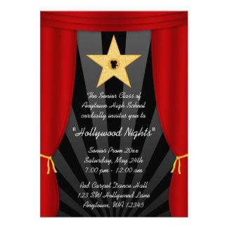 Invitación formal del baile de fin de curso rojo d