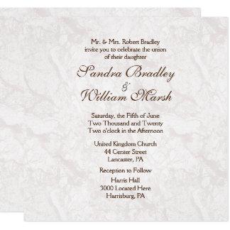 Invitación formal del boda de la mirada del