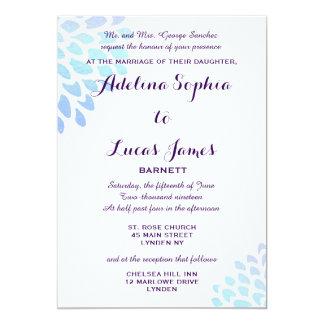 Invitación formal del boda del Hydrangea azul
