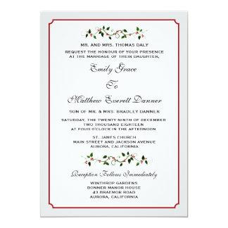 Invitación formal del boda del invierno del día de