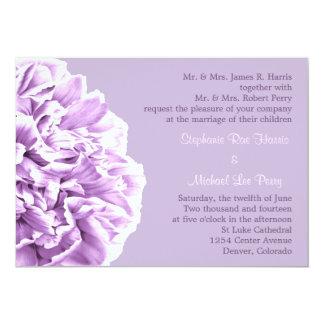 Invitación formal del boda del Peony de la lavanda
