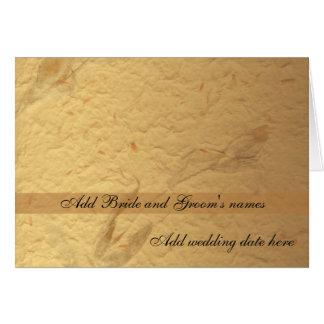 Invitación formal floral beige del boda tarjeta de felicitación