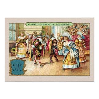 Invitación francesa con monograma del fiesta de la