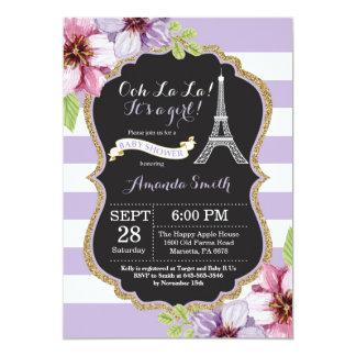 Invitación francesa de la fiesta de bienvenida al