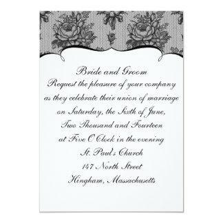 Invitación francesa negra del boda del jefe del invitación 12,7 x 17,8 cm