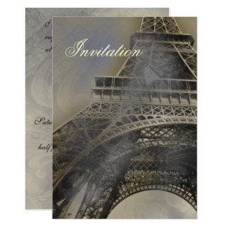 Invitación francesa parisiense del boda de la