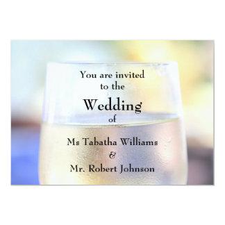 Invitación fresca del boda de la impresión de la