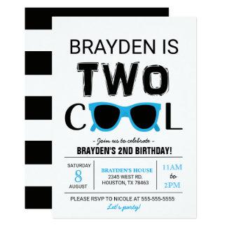 Invitación fresca del cumpleaños del muchacho dos
