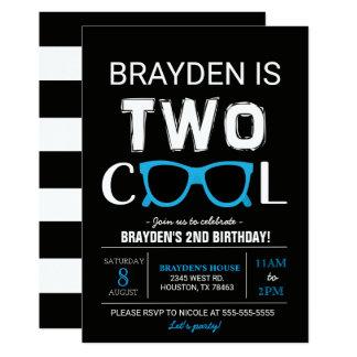 Invitación fresca del cumpleaños dos